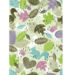 background of leafs vector image vector image