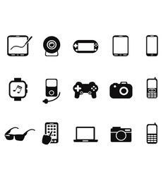 Black Mobile Devices Icon set vector image vector image