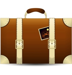 Brown Travel Suitecase vector image vector image