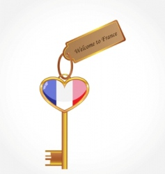 key to France vector image vector image