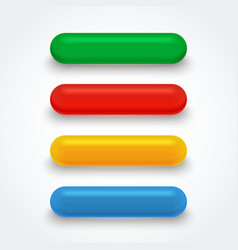 Set of bright isolated colorful glass buttons vector image