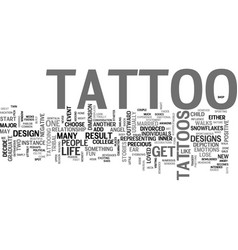 why get an angel tattoo or tribal tattoo design vector image