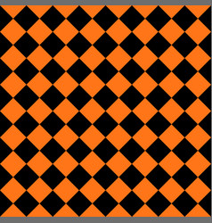Abstract black and orange square seamless backgrou vector