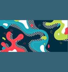 Abstract fluid colorful design minimal splash vector
