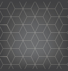 Abstract light grey background necker cube vector