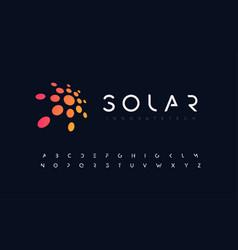 abstract sun flat style logo concept vector image