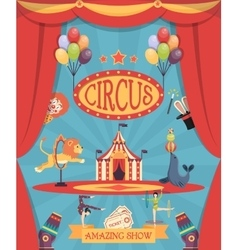 Amazing Circus Show Poster vector image vector image