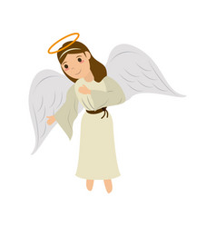 angel cute cartoon icon image vector image