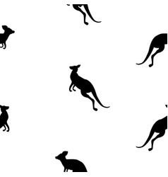 animal seamless pattern background with kangaroo vector image