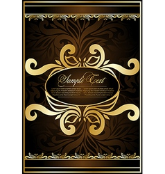 Antique brown background vector