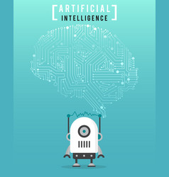 artificial intelligence with high technology and vector image