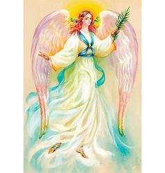 Artistic angel design vector