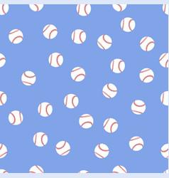 background of baseball balls vector image