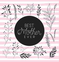 Best mom handmade postcard vector
