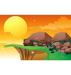 Big rocks near the cliff vector