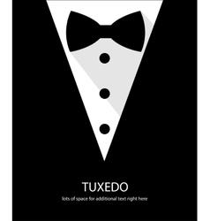 Black and white bow tie tuxedo vector image