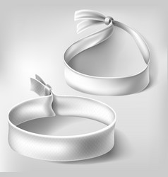 blank white paper or cloth wristband with lock vector image