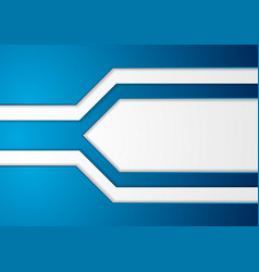 blue and grey abstract corporate geometric vector image