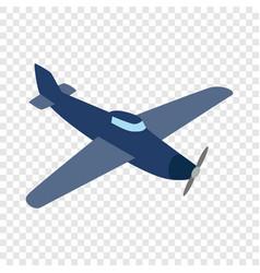 blue plane isometric icon vector image