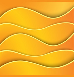bright abstract orange background made of paper vector image