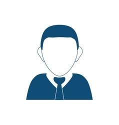 Businessman executive profile vector image