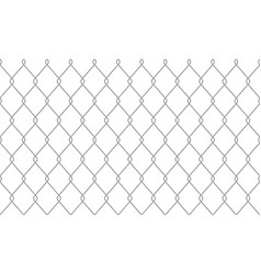 chain link fence wire netting pattern background vector image