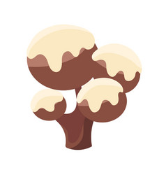 chocolate tree covered with white icing colorful vector image