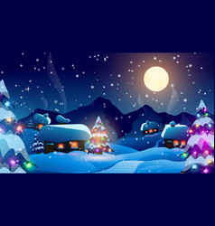 christmas and new year art vector image
