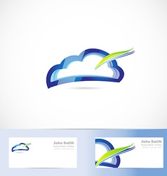 Cloud computing storage logo vector