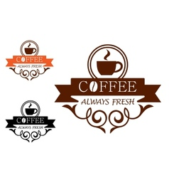 Coffee Always Fresh label vector image