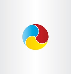 color circle business symbol design vector image