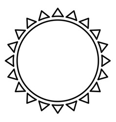 contour beautiful sun abstract icon vector image