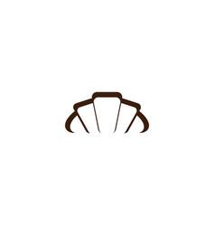 croissant logo icon symbol element vector image