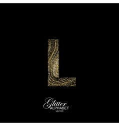 Curly textured Letter L vector image