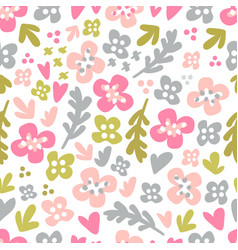 cute background with flowers vector image