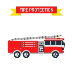 Detailed of fire truck emergency car vector image