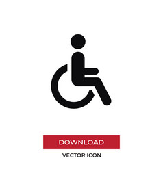 disabled icon in modern style for web site and vector image