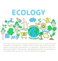 Doodles Ecology Set vector image