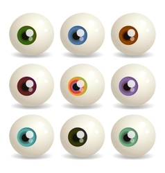 eyeballs vector image