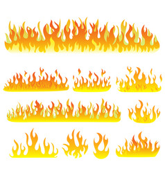 flame on a white vector image