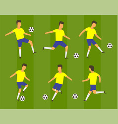 football soccer players vector image