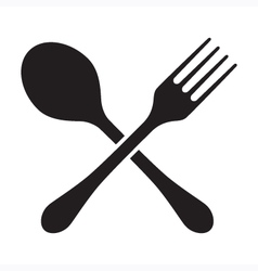 Fork and spoon isolated vector