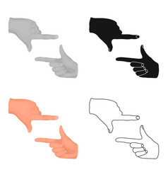 Gesture of the operatormaking movie single icon vector