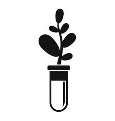 Gmo plant tube icon simple style vector