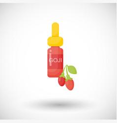 Goji berry oil flat icon vector