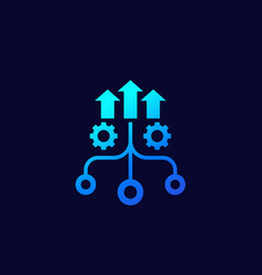 Growth and optimization icon vector