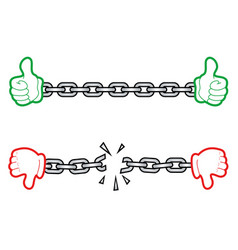 Hand chain icon vector