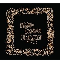 Hand drawn frame design vector image