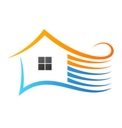 Home air conditioner design vector