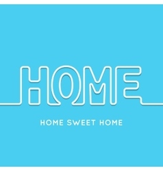 Home icon with shadow in blue background vector